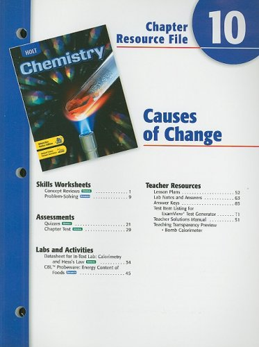 9780030681349: Holt Chemistry Chapter 10 Resource File: Causes of Change