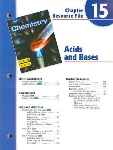 9780030681417: Holt Chemistry Chapter 15 Resource File: Acids and Bases