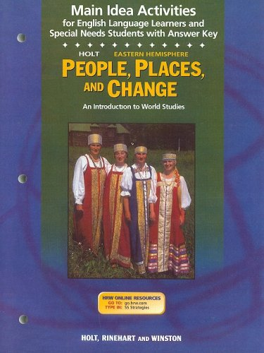 9780030681646: Holt Eastern Hemisphere People, Places, and Change Main Idea Activities: An Introduction to World Studies