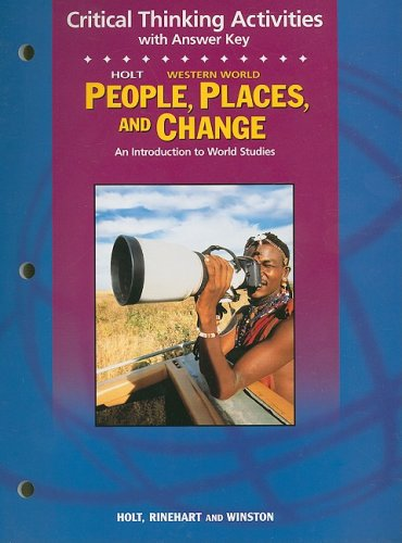 9780030681790: Holt People, Places, and Change Western World Critical Thinking Activities with Answer Key: An Introduction to World Studies