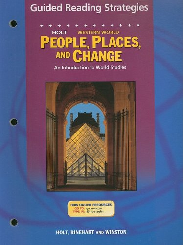 9780030681837: Holt People, Places, and Change Western World Guided Reading Strategies: An Introduction to World Studies