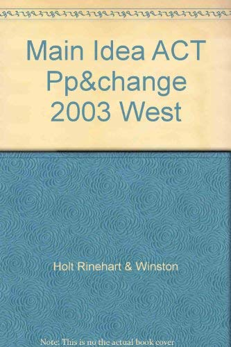 People, Places, and Change, Grades 6-8 Main Idea Activities Western Hemisphere: Holt People, Places...