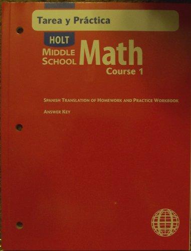 9780030682933: Spn Homewk/Prac Ansky MS Math 2004 Crs 1