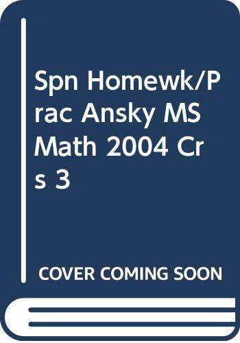9780030682964: Holt Middle School Math Course 3: Tarea Y Practica