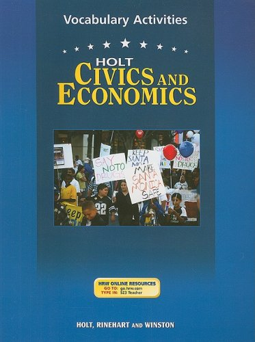 American Civics & Economics, Grades 9-12 Vocabulary Activities: Holt American Civics & ...