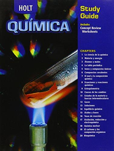 9780030683312: Holt Chemistry: Study Guide, Spanish