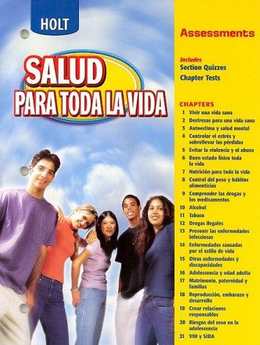 9780030683664: Holt Salud Para Toda La Vida Assessments (Spanish Edition)