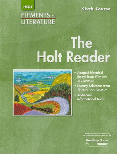 9780030683978: Elements of Literature: Reader Sixth Course