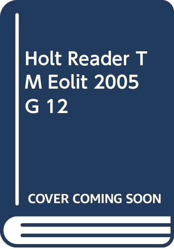 9780030684067: Holt Reader TM Eolit 2005 G 12