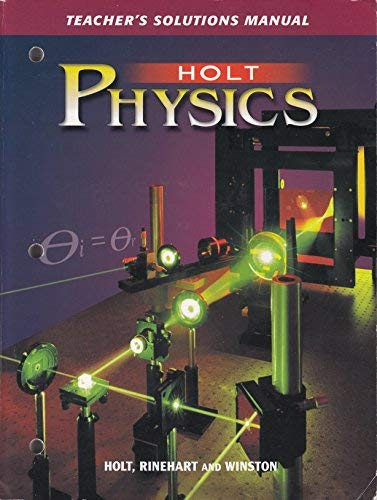 9780030684593: Holt Physics: Teacher's Solution Manual