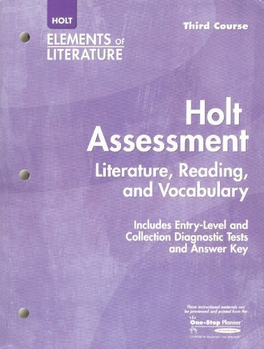 9780030685217: Holt Assessment: Literature, Reading, and Vocabulary, with Answer Key