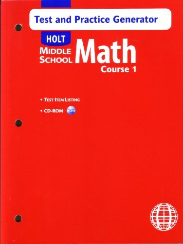 9780030686191: Holt Middle School Math: Course 1 - Test and Practice Generator w/CD-ROM