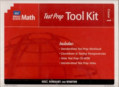 9780030686290: Test Prep Tool Kit Middle School Math 2004 Course 1