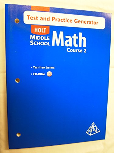 Test & Practice Generator/Test Item Listing, Course 2 (Holt Middle School Math): none ...