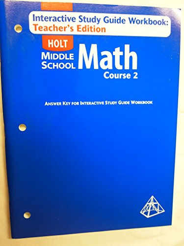 9780030686320: Te/Int Study GD Wkbk MS Math 2004 Crs 2