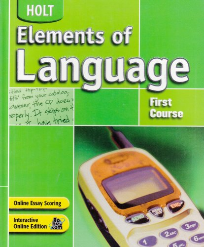 9780030686641: Holt Elements of Language, 1st Course