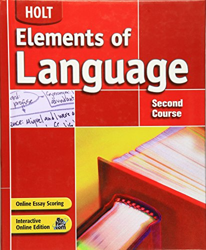 9780030686665: Elements of Language, Grade 8, 2nd Course, Student Edition