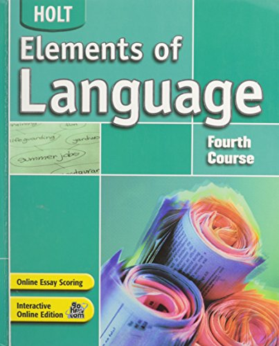 Elements of Language: Fourth Course: Renee Hobbs, Irwin,