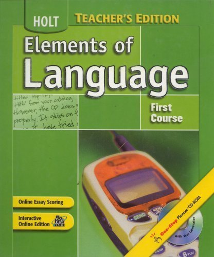 9780030686733: Elements of Language 2004 grade 7 first course, Annotated Teacher's Edition