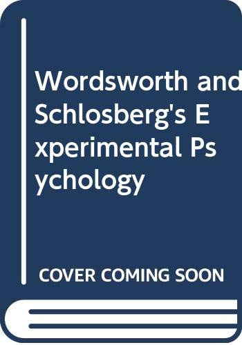 9780030686801: Wordsworth and Schlosberg's Experimental Psychology