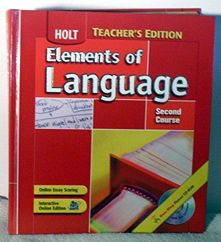 9780030686849: Elements of Language, 2nd Course, Grade 8, Teacher's Edition