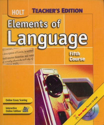 9780030687129: Elements of Language, Grade 11