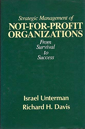 9780030687761: Strategic Management for Not-for-profit Organizations
