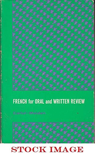 9780030688409: Pattern practice manual to accompany French for oral and written review