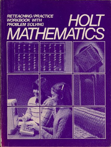 9780030688812: Reteaching/Practice Workbook With Problem Solving - Holt Mathematics
