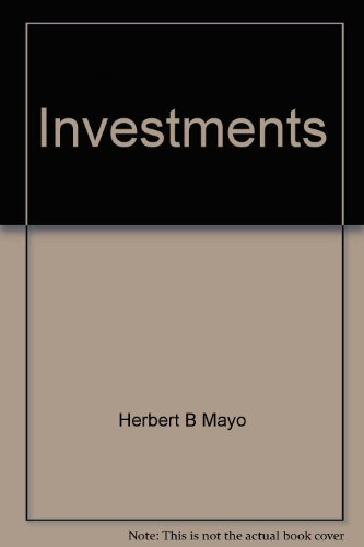 9780030688997: Investments (Dryden Press series in finance)