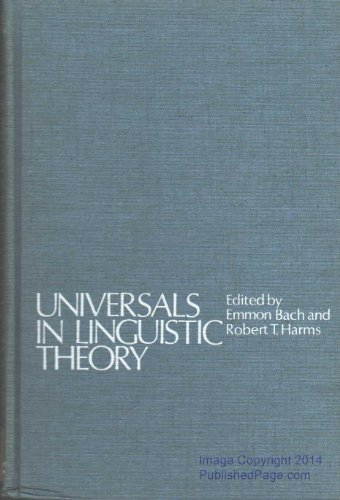 9780030689352: Universals in linguistic theory