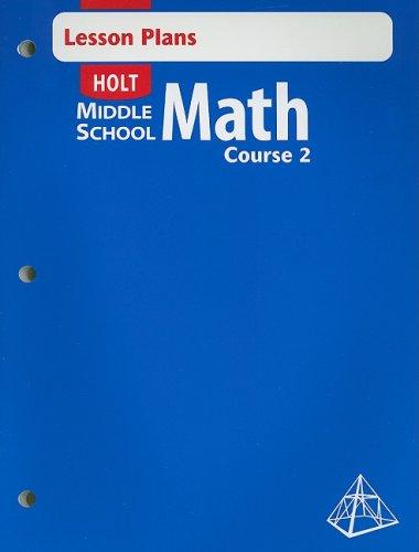 9780030692147: Holt Middle School Math Lesson Plans Course 2 - Teacher