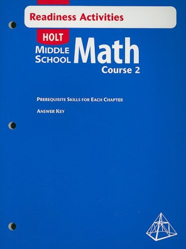 9780030692369: Holt Middle School Math Readiness Activities, Course 2