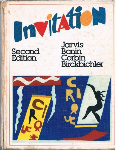 Invitation: French Communication and Cultural Awareness: Jarvis, Gilbert A.