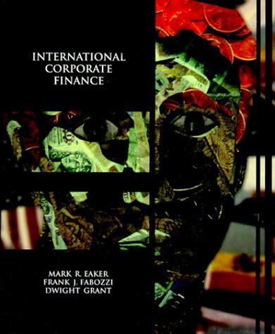 9780030693069: International Corporate Finance (Dryden Press Series in Finance)
