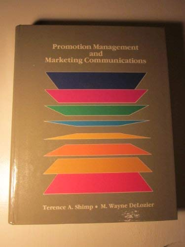 9780030694141: Promotion Management and Marketing Communications (The Dryden Press series in marketing)