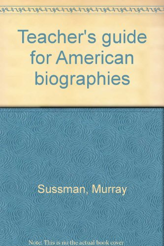 9780030695704: Teacher's guide for American biographies