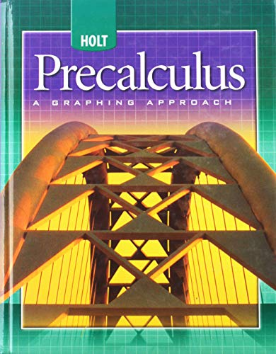 9780030696084: Holt Precalculus: A Graphing Approach: Student Edition 2004