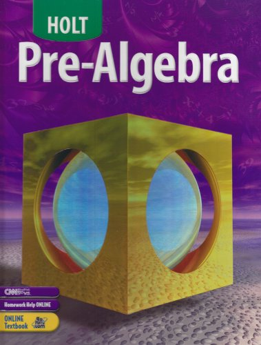 9780030696091: Holt Pre-Algebra: Student Edition 2004