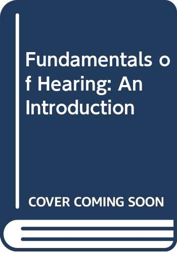 9780030696213: Fundamentals of Hearing: An Introduction
