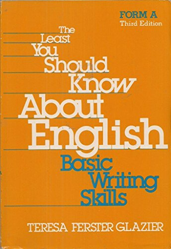 9780030697791: Least You Should Know About English: Form A