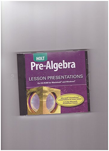 9780030697999: Lesson Presentations for Pre-Algebra