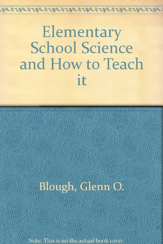 9780030698903: Elementary School Science and How to Teach it