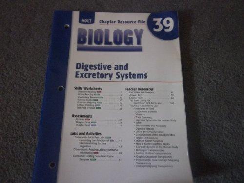 9780030699764: Cr 39 Digestv/Excretory Biology 2004