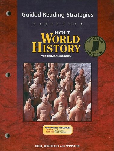 9780030700125: Holt World History Guided Reading Strategies, Indiana Edition: The Human Journey