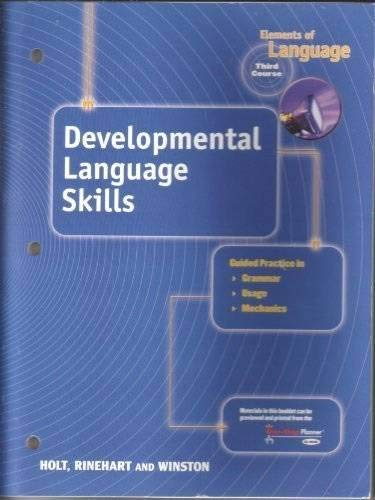 9780030700620: Developmental Language Skills (Elements of Language, 3rd Course, Grade 9)