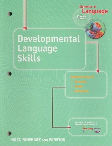 9780030700637: Elements of Language: Developmental Language Skills Fourth Course