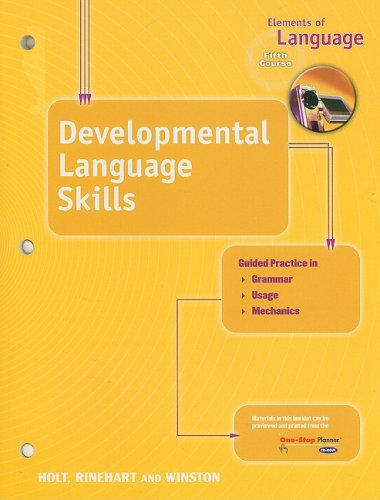 9780030700644: Elements of Language: Developmental Language Skills Book Fifth Course