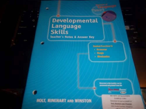 9780030700675: Devlp Lang Skills Ansky Eolang 2004 G 6