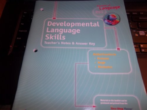 9780030700729: Developmental Language Skills (Elements of Language, Fourth Course) Teacher's Notes & Answer Key